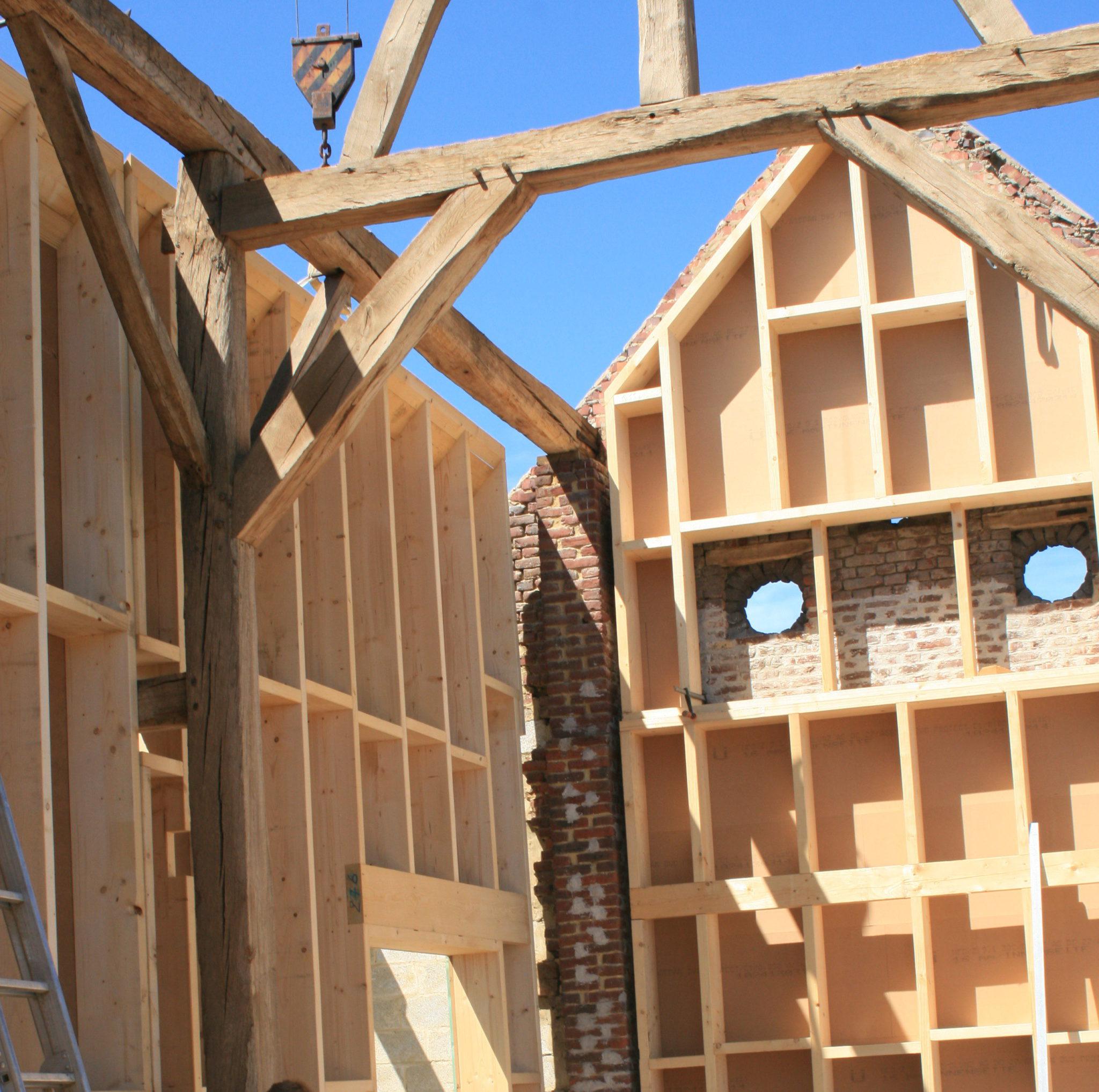Rénovation d'une grange en maison unifamiliale – Glabais, Brabant Wallon