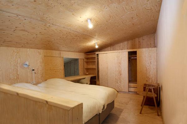 Construction et aménagement d'un espace d'intimité sur une mezzanine