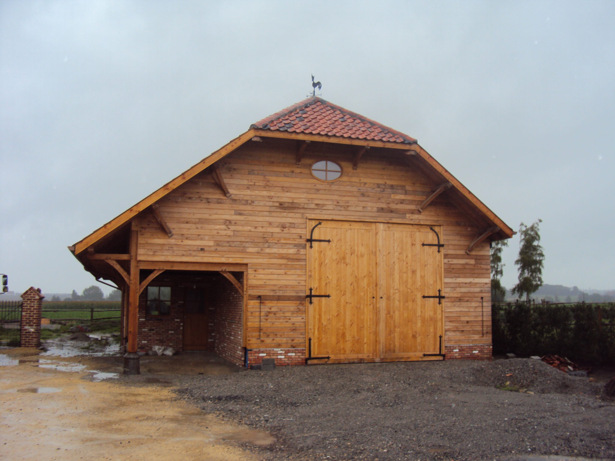 Grange en poteaux poutres