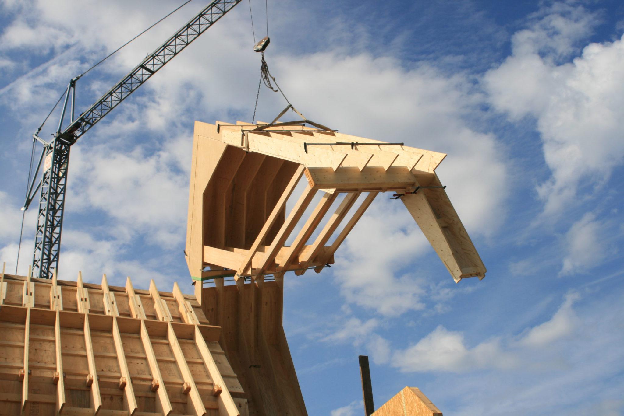 Construction d'une habitation innovante en LVL