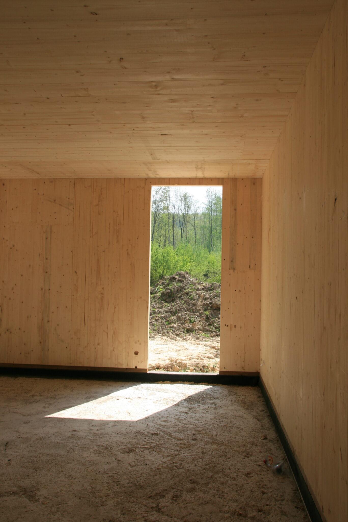 Construction d'une maison en CLT