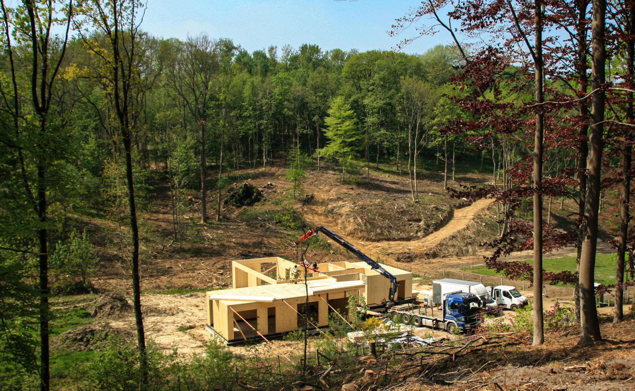 Construction d'une maison en CLT à Bierges